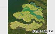 Satellite Map of Zeeland, darken