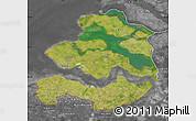 Satellite Map of Zeeland, desaturated