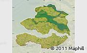 Satellite Map of Zeeland, lighten