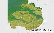 Satellite Map of Zeeland, single color outside