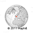 Outline Map of Zeeland