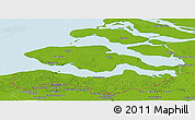 Physical Panoramic Map of Zeeland