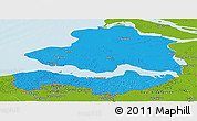 Political Panoramic Map of Zeeland, physical outside