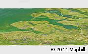 Satellite Panoramic Map of Zeeland