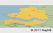 Savanna Style Panoramic Map of Zeeland