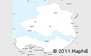 Silver Style Simple Map of Zeeland