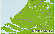 Physical 3D Map of Zuid-Holland