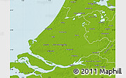 Physical Map of Zuid-Holland