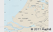 Shaded Relief Map of Zuid-Holland