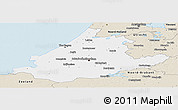 Classic Style Panoramic Map of Zuid-Holland