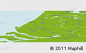 Physical Panoramic Map of Zuid-Holland