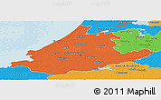 Political Panoramic Map of Zuid-Holland