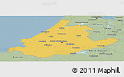 Savanna Style Panoramic Map of Zuid-Holland