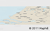 Shaded Relief Panoramic Map of Zuid-Holland