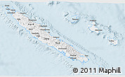 Classic Style 3D Map of New Caledonia