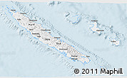 Classic Style 3D Map of New Caledonia, single color outside