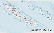 Gray 3D Map of New Caledonia, single color outside