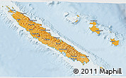 Political Shades 3D Map of New Caledonia, lighten