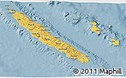 Savanna Style 3D Map of New Caledonia