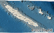 Shaded Relief 3D Map of New Caledonia, darken