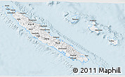 Silver Style 3D Map of New Caledonia