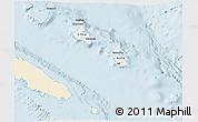 Classic Style 3D Map of Îles Loyauté, single color outside