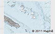 Gray 3D Map of Îles Loyauté