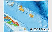 Political 3D Map of Îles Loyauté