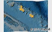 Political Shades 3D Map of Îles Loyauté, darken