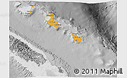 Political Shades 3D Map of Îles Loyauté, desaturated