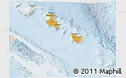 Political Shades 3D Map of Îles Loyauté, lighten