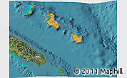 Political Shades 3D Map of Îles Loyauté, satellite outside