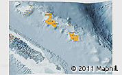 Political Shades 3D Map of Îles Loyauté, semi-desaturated