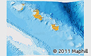 Political Shades 3D Map of Îles Loyauté, single color outside
