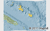 Savanna Style 3D Map of Îles Loyauté