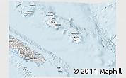 Silver Style 3D Map of Îles Loyauté
