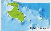 Physical 3D Map of Lifou