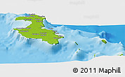 Physical Panoramic Map of Lifou