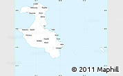 Silver Style Simple Map of Lifou