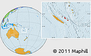 Political Location Map of Îles Loyauté