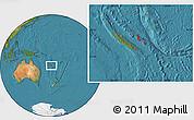 Satellite Location Map of Îles Loyauté