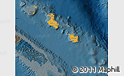 Political Shades Map of Îles Loyauté, darken