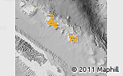 Political Shades Map of Îles Loyauté, desaturated