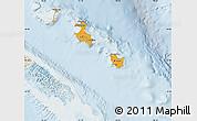 Political Shades Map of Îles Loyauté, lighten