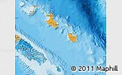 Political Shades Map of Îles Loyauté