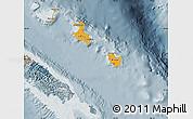 Political Shades Map of Îles Loyauté, semi-desaturated