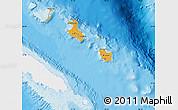 Political Shades Map of Îles Loyauté, single color outside