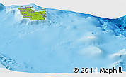 Physical Panoramic Map of Maré