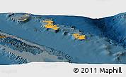 Political Shades Panoramic Map of Îles Loyauté, darken