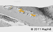 Political Shades Panoramic Map of Îles Loyauté, desaturated